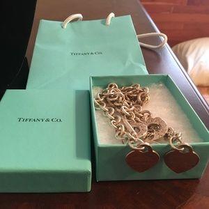 Authentic Tiffany & Co (PRTT) Heart Toggle Set